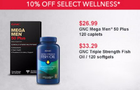 GNC | 10% Off Select Wellness