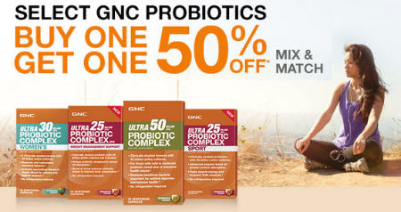 GNC Probiotics - Buy One, Get One 50% Off at GNC