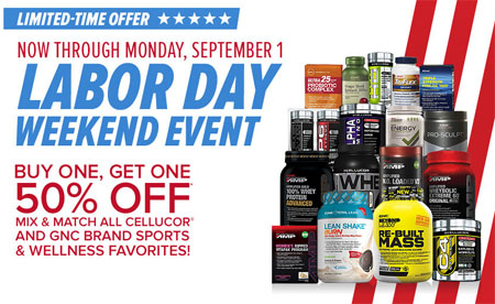 Labor Day BOGO Event at General Nutrition Center