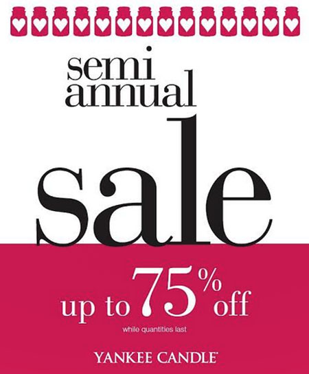 Semi Annual Sale at Yankee Candle