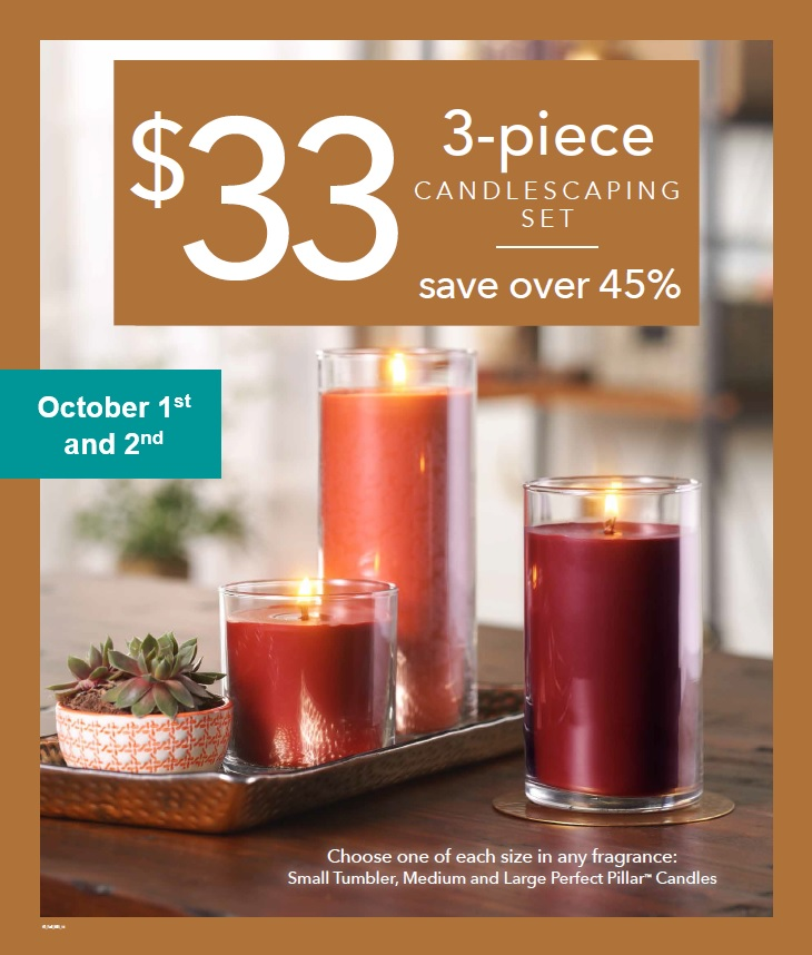 3-piece Candlescaping Set for $33