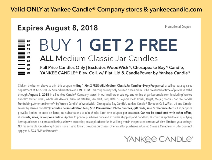 Buy 1 get 2 free yankee candle