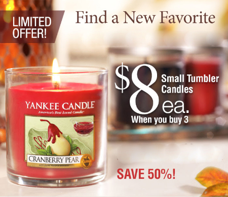 Up to 50% Off Fall Favorites at Yankee Candle