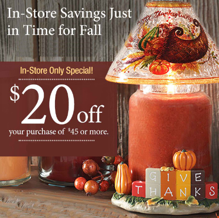$20 Off $45 or More at Yankee Candle Co.