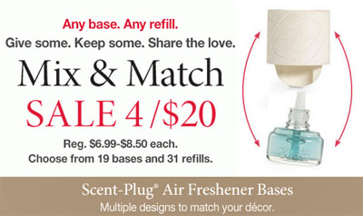 Scent-Plug 4 for $20 at Yankee Candle