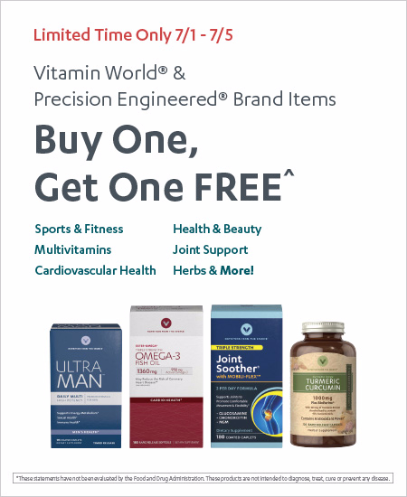 Buy One, Get One FREE All Vitamin World & Precision Engineered Brand Items^
