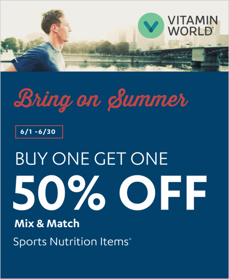 Buy One Get One 50% OFF Mix & Match Sports Nutrition Items^
