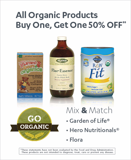 Buy One, Get One 50% OFF All Organic Products