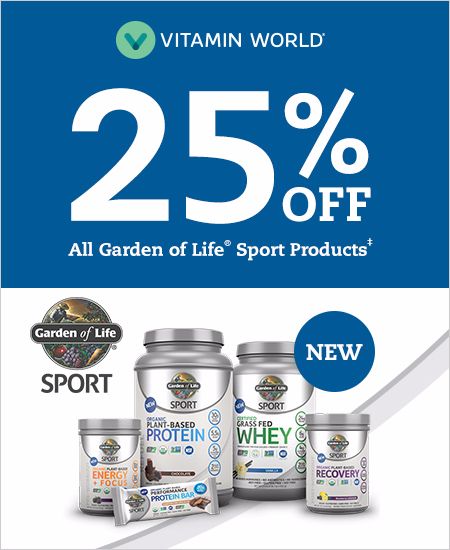 25% OFF All Garden of Life® Sport Products*
