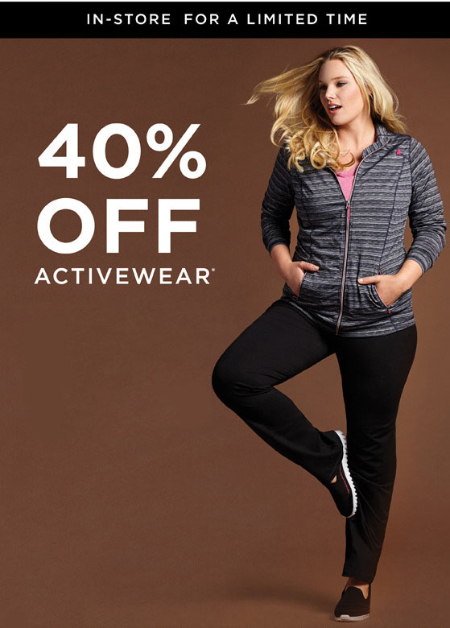 40% Off Activewear