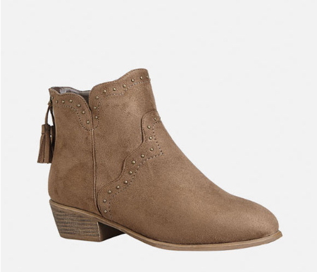 Tally Sueded Stud Bootie