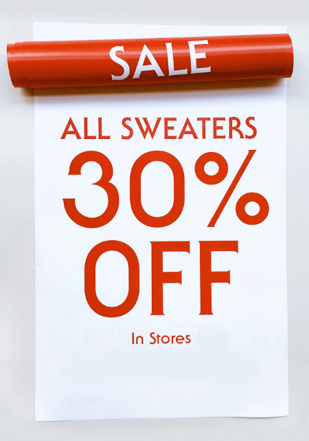 30% Off All Sweaters