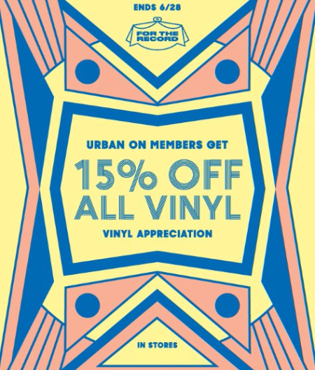 15% Off All Vinyl With Urban On