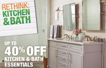 Up to 40% Off Kitchen & Bath Essentials