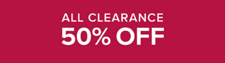 50% Off All Clearance