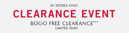BOGO Free Clearance