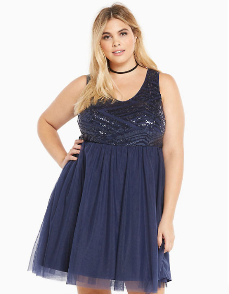 Special Occasion Sequin Tulle Skater Dress