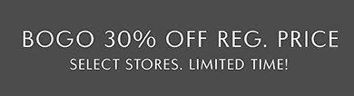 BOGO 30% Off Reg. Price