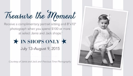 Receive a complimentary portrait sitting and an 8 quot x10 quot photograph when
