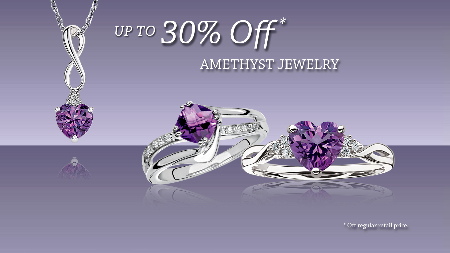 February BIRTHSTONES: 30% OFF Amethyst Jewelry