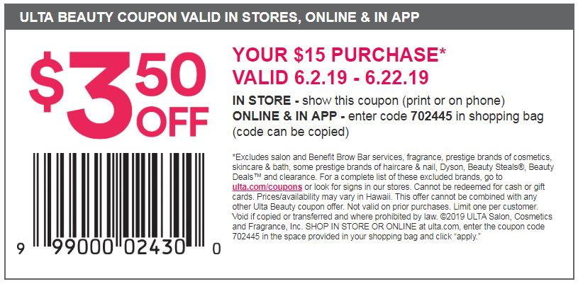 can you use coupons on your phone at ulta