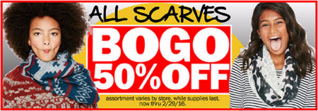 All Scarves BOGO 50% Off