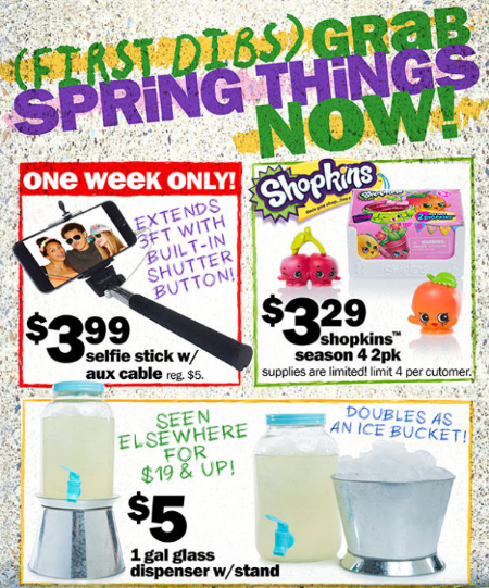 Get First Dibs on $1-$5 Spring Faves