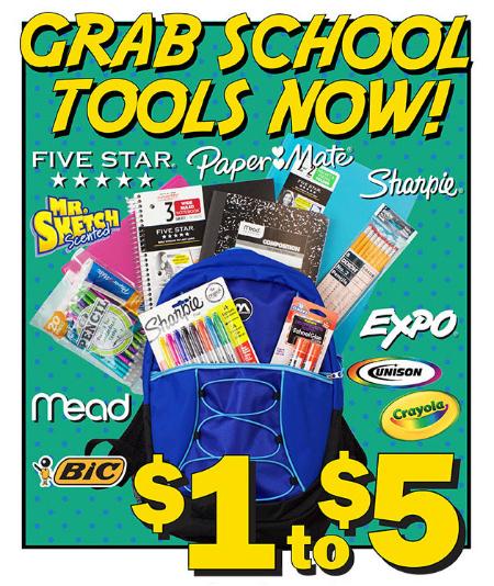 $1 To $5 School Tools