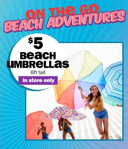 5 6ft Tall Beach Umbrellas
