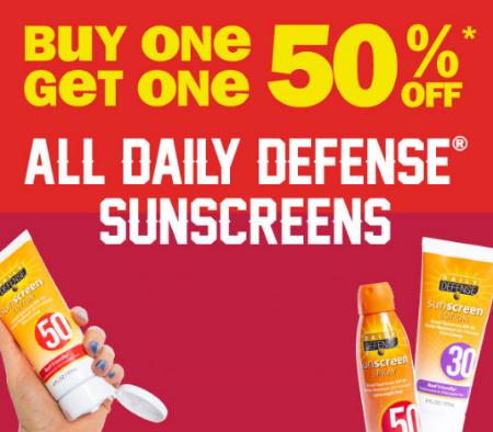 Millcreek Mall ::: BOGO 50% Off All Daily Defense Sunscreens