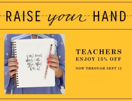 Teachers Enjoy 15% Off
