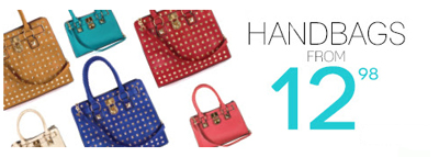 Handbags from 12.98 at Body Central