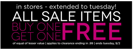 All Clearance BOGO Free at Body Central