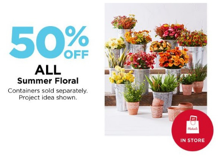 The Avenue Viera 50 Off All Summer Floral Michaels Arts And