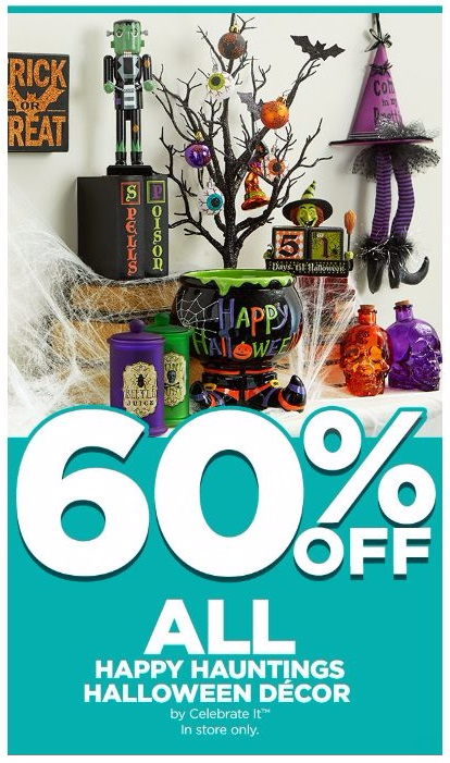 60% Off All Happy Hauntings Halloween Décor