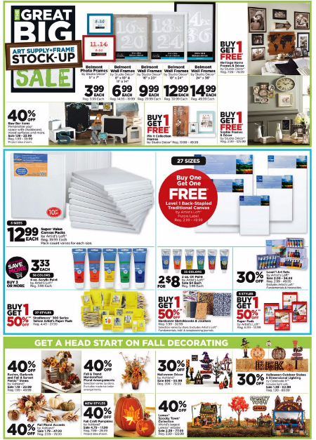 Weekly Specials at Michaels