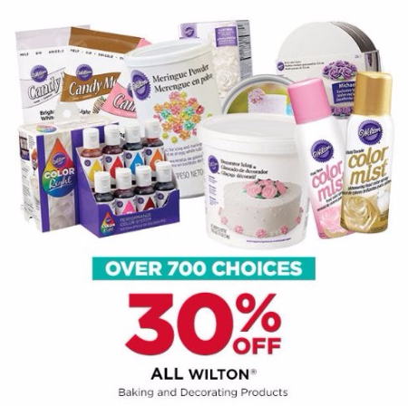 30% Off All Wilton