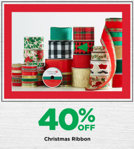 michaels arts and crafts 40 off christmas ribbon