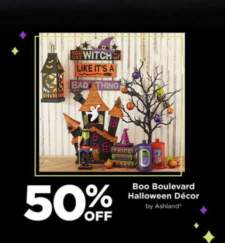 hurry in and take 50 off on boo boulevard halloween dcor in store for a limited time - Halloween Stores In Huntington Wv