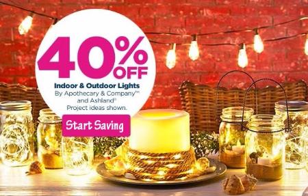 40% Off Indoor & Outdoor Lights