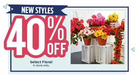 40% Off Select Floral