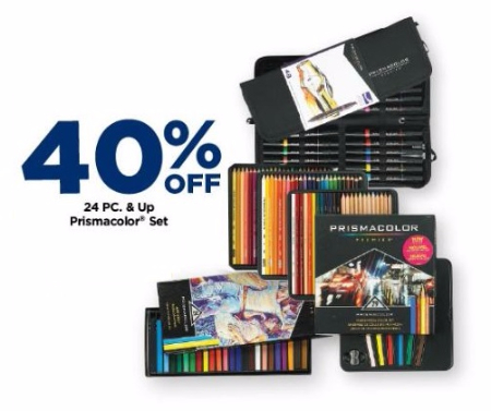 40% Off 24 pc. & up Prismacolor Set