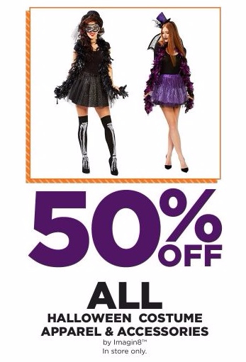 50% Off All Halloween Costume Apparel & Accessories