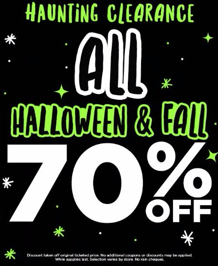Haunting Clearance 70% Off