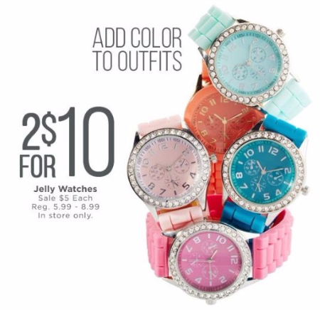 2 for $10 Jelly Watches