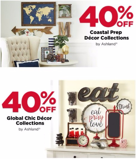 40% Off Coastal Prep Décor Collections & Global Chic Décor Collections
