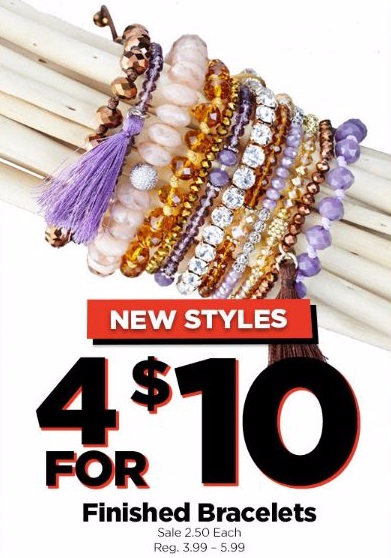 4 for $10 Finished Bracelets