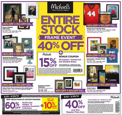 Weekly specials at michael 39 s arts and crafts for Weekly ad for michaels craft store