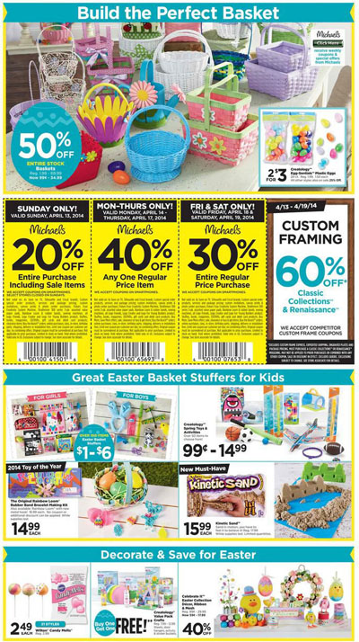 Weekly Specials at Michaels Arts and Crafts
