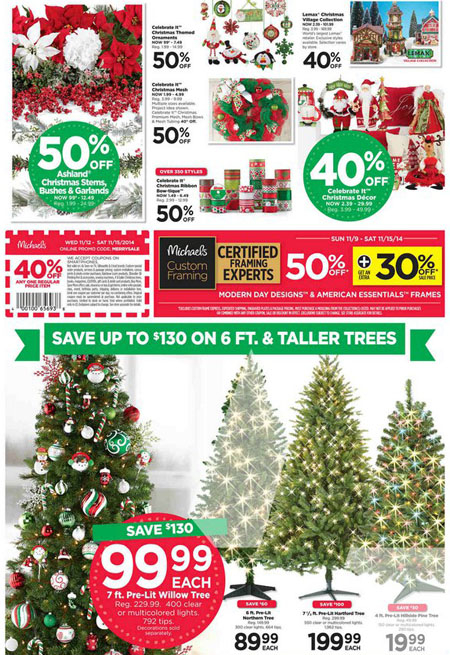 Shopping mall sales discounts and special events in for Weekly ad for michaels craft store